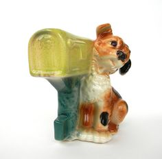 Royal Copley Dog at Mailbox vintage planter by Mylittlethriftstore, $19.00
