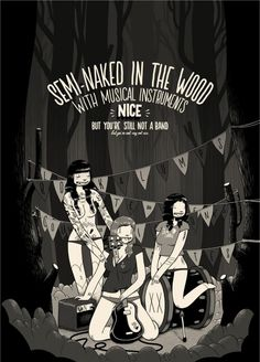 """Illustration: Mcbess - """"Semi naked in the wood""""    http://www.mcbess.com/"""