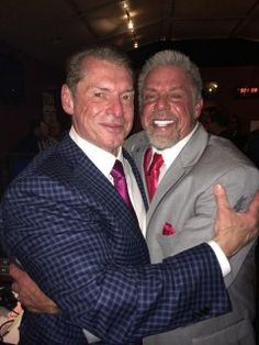Vince and The Ultimate Warrior Together, New WWE Title Plates - http://www.wrestlesite.com/wwe/vince-ultimate-warrior-together-new-wwe-title-plates/