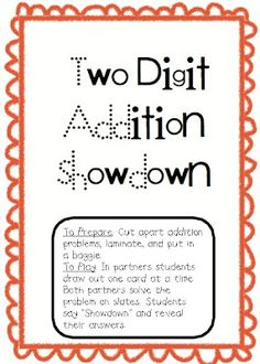 Two Digit Addition Showdown