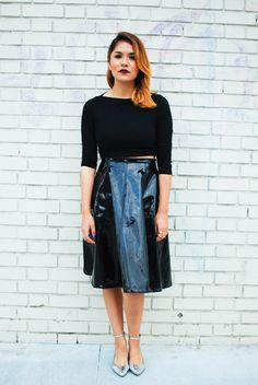 Up on the blog @Jasmine Ann Ann Ann skirt, #tobiclothing top, @· ZARA · shoes