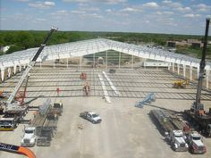 This project is the largest indoor sports facility in the state of Kansas. The sq ft indoor facility was constructed using a pre-engineered building Industrial Architecture, Modern Architecture, Pittsburg State, Track And Field Events, Industrial Sheds, Metal Carports, Steel Structure Buildings, Steel Trusses, Warehouse Design