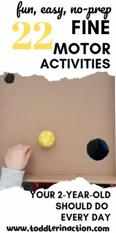 Check out these 22 easy and fun fine motor toddler activities that can be repeated daily. Those are especially great for 2-year-old and under age of 2.  Additionally, you can not only read the description of the fun toddler activity idea, but also see videos of the actual activity. #toddleractivities #toddleractivities2yearold #toddler #toddlerfinemotor #finemotorskills #finemotoractivities #toddleractivitiesvideos #toddlervideo #nopreptoddleractivities #easytoddleractivities
