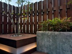 Screening fence or garden wall - 102 Ideas for Garden Design Privacy fence or garden wall - 102 idea