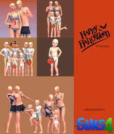 Happy Halloween Quotes, Halloween Fonts, Halloween Kids, Sims 4 Poses, Kid Poses, Sims 4 Black Hair, Funny Poses, Sims 4 Children, Sims 4 Characters