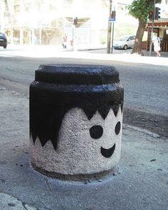 Playmobil street art in Rio de Janeiro, Brazil