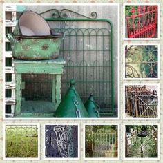 Through the garden gate collage by Found. Vintage