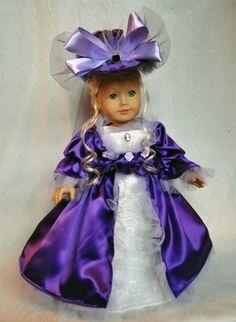 "Dickens Purple Victorian Dress 18"" American Girl Doll Handmade OOAK Luminari | eBay"