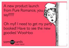 A new product launch from Pure Romance, you say????? Oh my!! I need to get my party booked! Have to see the new goodies! WooHoo.