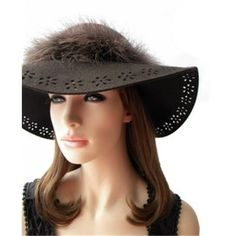 Enclose feather WOOL Women's Bowler Hats