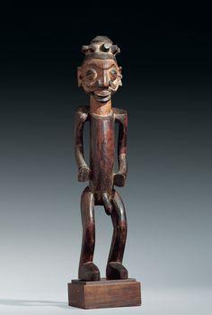 YAKA FIGUR Kongo. H 48.5 cm.  Provenance: Sammlung R. und D. David, vormals U. Horstmann, Zug und J. Walschaert, Antwerpen.