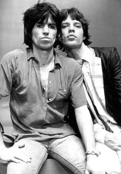 Mick and Keith, New York, 1978 - photo Mike Putland