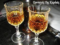 ΣΥΝΤΑΓΕΣ ΤΗΣ ΚΑΡΔΙΑΣ: Λικέρ δυόσμος Flute, Alcoholic Drinks, Liqueurs, Homemade, Tableware, Glass, Greece, Foods, Greece Country
