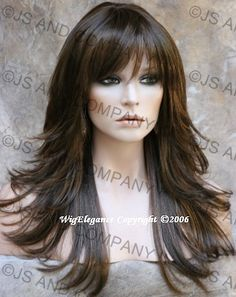 tr-fn-8-12-27 - Synthetic hair - JennysHairSense.com - The Wig Company Salon Style, Natural Looks, Bangs, Flare, Wig, Hair Style, Salons, Hair Color, Style Hair