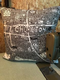 ChorltonDoodle Map Cushion - £35