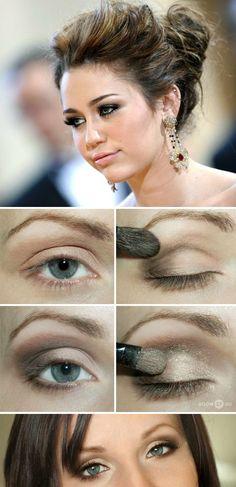 Miley Golden Eye Shadow Tutorial #eyeshadow #beauty