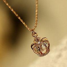 Diamond Crown Fashion Necklace | LilyFair Jewelry, $16.99!