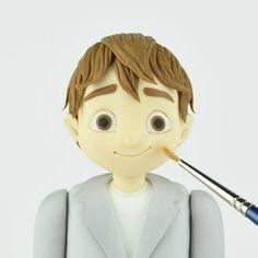 How to Make a Gum Paste Guy   Fondant figures tutorial ...