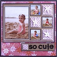 So cute scrapbooking layout