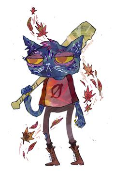 rachelzavarella:  Mae is my homegirl. some fun fanart for Night In the Woods. beyond stoked for this game to come out! check it: nightinthewoods.com