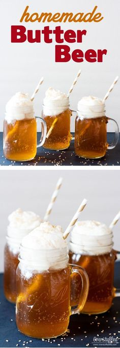Harry Potter Butterbeer Recipe ❤︎ Fun ideas for your Harry Potter book club and discussion group. An easy homemade butter beer recipe, a fun sorting hat idea, and how to make your book discussion more interesting. Harry Potter Snacks, Harry Potter Bday, Harry Potter Theme Food, Harry Potter Butterbeer, Harry Potter Themed Party, Harry Potter Adult Party, Harry Potter Activities, Harry Potter Marathon, Harry Potter Birthday Cake