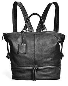 Smooth leather handbag doubles as a back pack. Love this, need one for riding ! Stylish Handbags, Cute Handbags, Fall Jewelry, Summer Jewelry, Carolina Herrera Purses, Italian Leather Handbags, Satchel Backpack, Ladies Bags, Backpacks