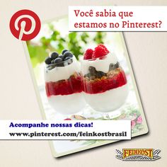 Sobremesas, ideias, inspirações e muito mais. Motivos não faltam pra você nos seguir no Pinterest:  http://www.pinterest.com/feinkostbrasil/  #feinkost #pinterest #inspiracoes