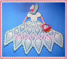 BellaCrochet: Sweet Southern Belle: A Free Crochet Pattern for You!This is a fantastic appliqué,and even though the pattern is long,it's also completely written,step by step! Crochet Dollies, Crochet Doily Patterns, Crochet Girls, Crochet Art, Thread Crochet, Filet Crochet, Irish Crochet, Vintage Crochet, Crochet Designs