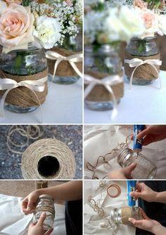 Riciclare vasi di vetro, varie idee.