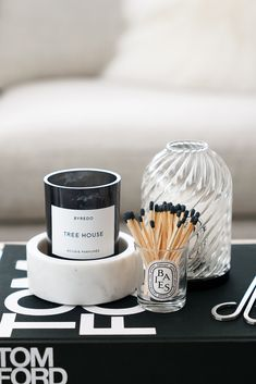 Coffee Table Styling, Decorating Coffee Tables, Diptyque Candles, Scented Candles, Affordable Home Decor, Tray Decor, Decoration, Perfume, Room Decor