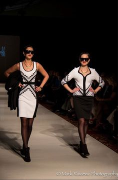 Joseph Ribkoff Black and White Dress | Matching jacket