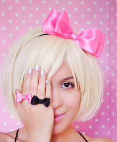 Hot+Pink+Headband+Bow+Satin+Ribbon+bow+Hair+Accessory+by+JuicyBows,+$8.99