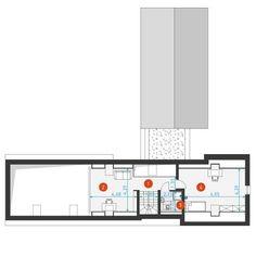 DOM.PL™ - Projekt domu DZW Familijny 1 CE - DOM DW2-10 - gotowy koszt budowy Modern Bungalow House, Modern House Design, Inside Outside, Exterior Design, House Plans, Farmhouse, How To Plan, Bungalows, Tabata