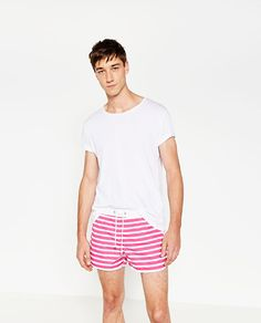 ZARA - SALE - STRIPED SWIM SHORTS
