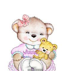 """Téléchargez la photo libre de droits """"Teddy bear with baby"""" créée par ciumac au meilleur prix sur Fotolia.com. Parcourez notre banque d'images en ligne et trouvez l'image parfaite pour vos projets marketing !"""