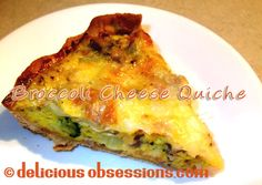 Broccoli Cheese Quiche Recipe (Gluten and Grain Free)