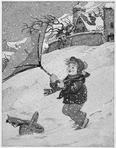 Snowstorm by Bernhard Oberdieck