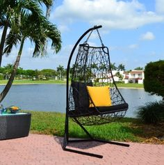 Contemporary outdoor swing chair - Anjuna Model# DL015 by Chans Patio, http://www.amazon.com/dp/B001AB1NEU/ref=cm_sw_r_pi_dp_otXArb1KZYF64