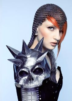 Something like this with the skulls, but have it  finished to look like a skull, with ice spikes coming through.