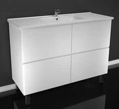 The beautifully stylish all drawer Firenza vanity from Castano provides excellent storage while maintaining smart, clean lines. And so many top options!