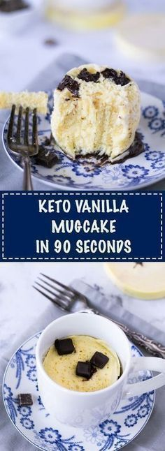 Interested in making a keto friendly 90 second mug cake? So delicious!!