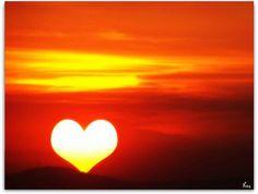 heart, love, nature, sky, sun, sunset