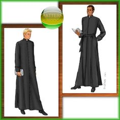 Butterick 6844 Catholic Cassock Gown/Robe Vestments Patterns