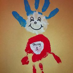 Dr Suess hands-think illhave the girls make him cards