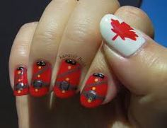 Lacquer Buzz: Where In The World Challenge: Canada - mounties! Toe Nail Designs, Nail Polish Designs, Country Nail Art, Orchid Nails, Usa Nails, Nails Now, Hallmark Channel, Types Of Nails, Holiday Nails