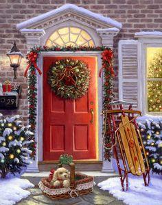 """""""Christmas Doorway"""" by Ruth Sanderson"""