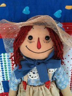 Handmade Adorable Raggedy Ann Doll by AlbumsbyGiGi on Etsy