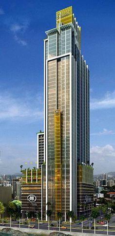 Star Bay Tower, Panama City by Pinzón Lozano & Asociados Arquitectos :: 68 floors, height 267m