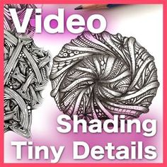 This video will teach you to approach shading tiny details in your Zentangle® art. Mandala Doodle, Doodle Art, Zen Doodle, Colouring Techniques, Art Techniques, Zentangle Patterns, Zentangles, Zentangle Drawings, Art Club