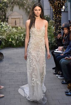 Monique Lhuillier Bridal Spring 2017 | #BridalFashionWeek #WeddingDress [Photo: Rodin Banica]